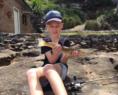 Tackle World's December Local Hero - Callum with a nice whiting