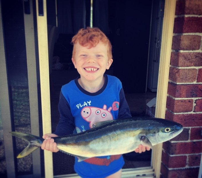 Tackle World's local hero Kade Webb with his first ever kingfish