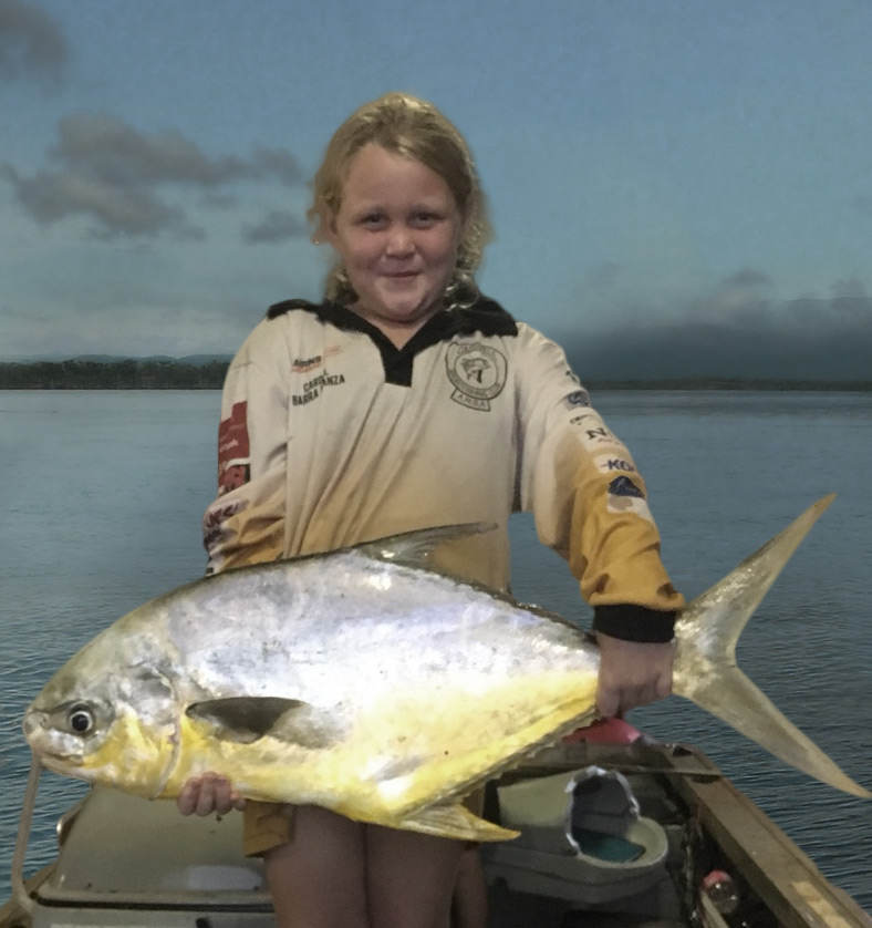 February Local Hero,Ella from Tully, with a stunning 85cm permit.
