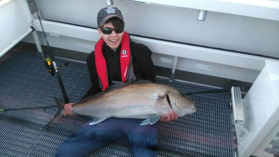 Tackle World's Local Hero Harvey landed this hard fighting Samson fish