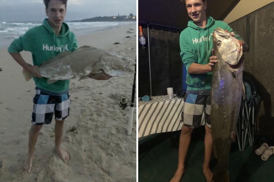 Tackle World's Local Hero Matthew Moss with a hefty beach caught Mulloway