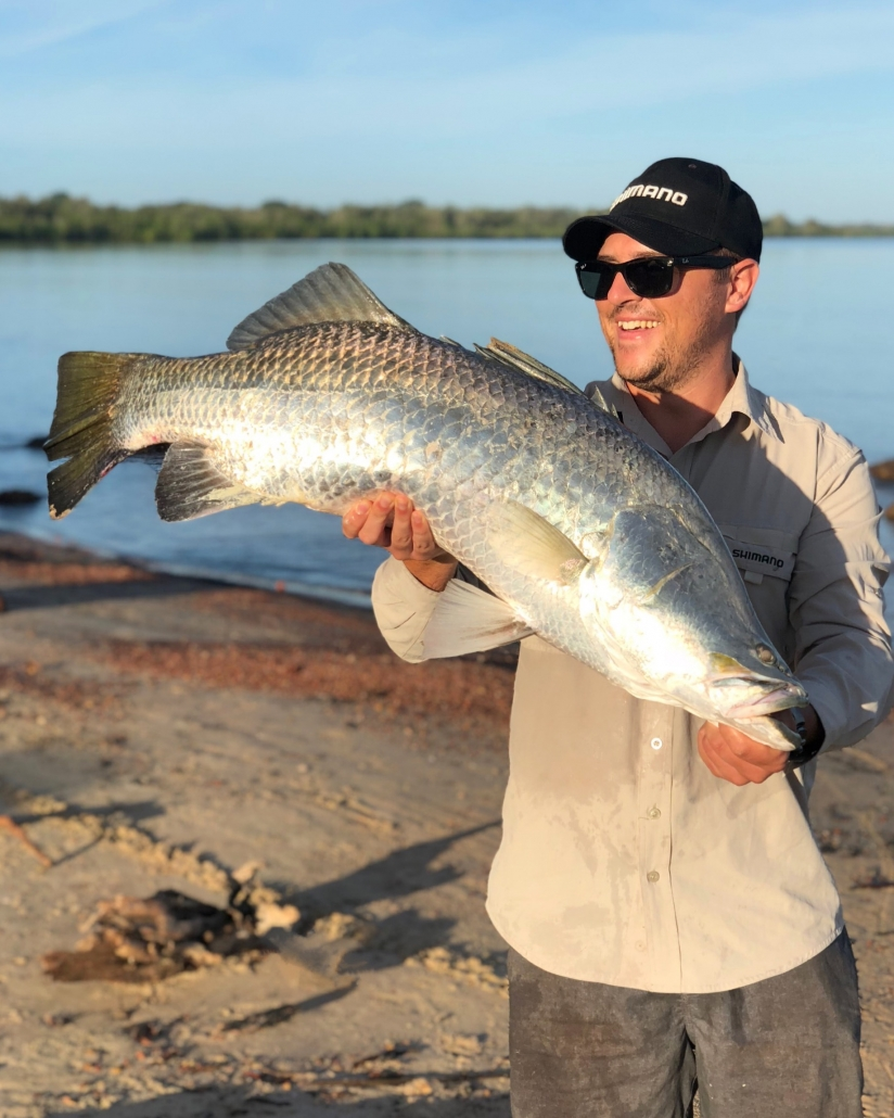 Tackle World's Local Hero Nick with a beach caught Barra in Weipa