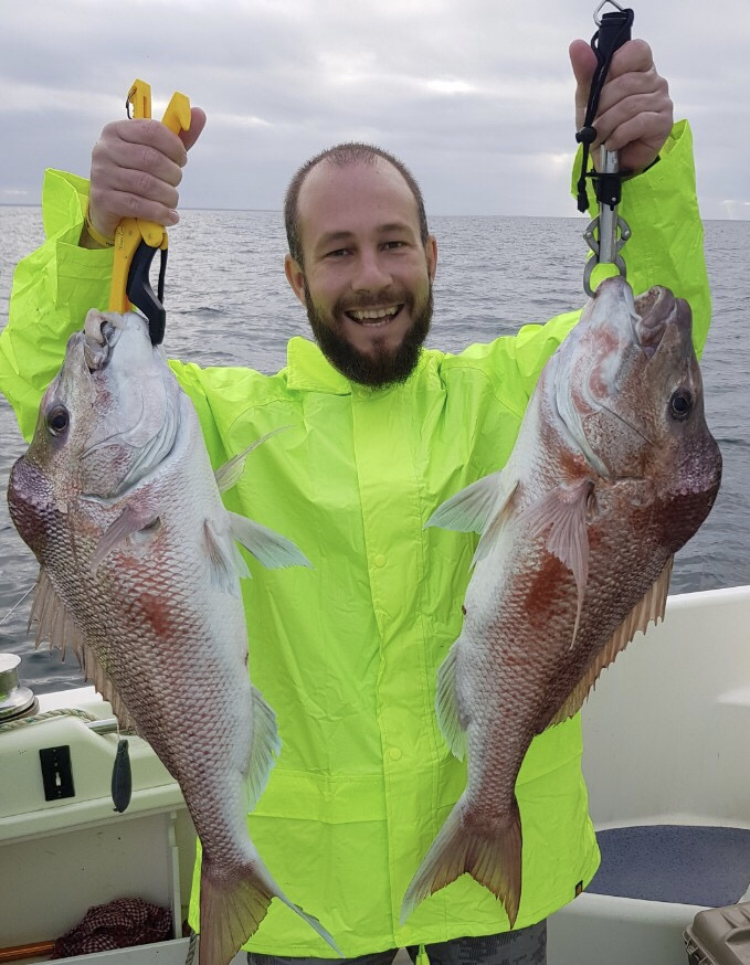 Tackle World's Local Hero Ryan with a brace of Snapper