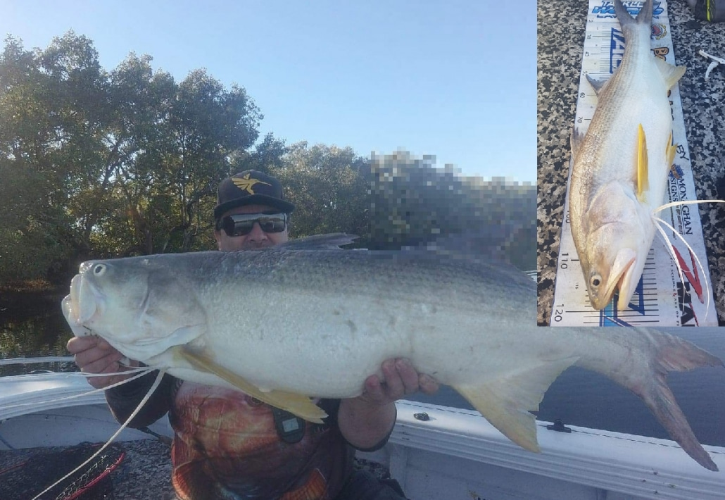 Tackle World's local hero Simon with a spectacular 120cm Threadfin Salmon