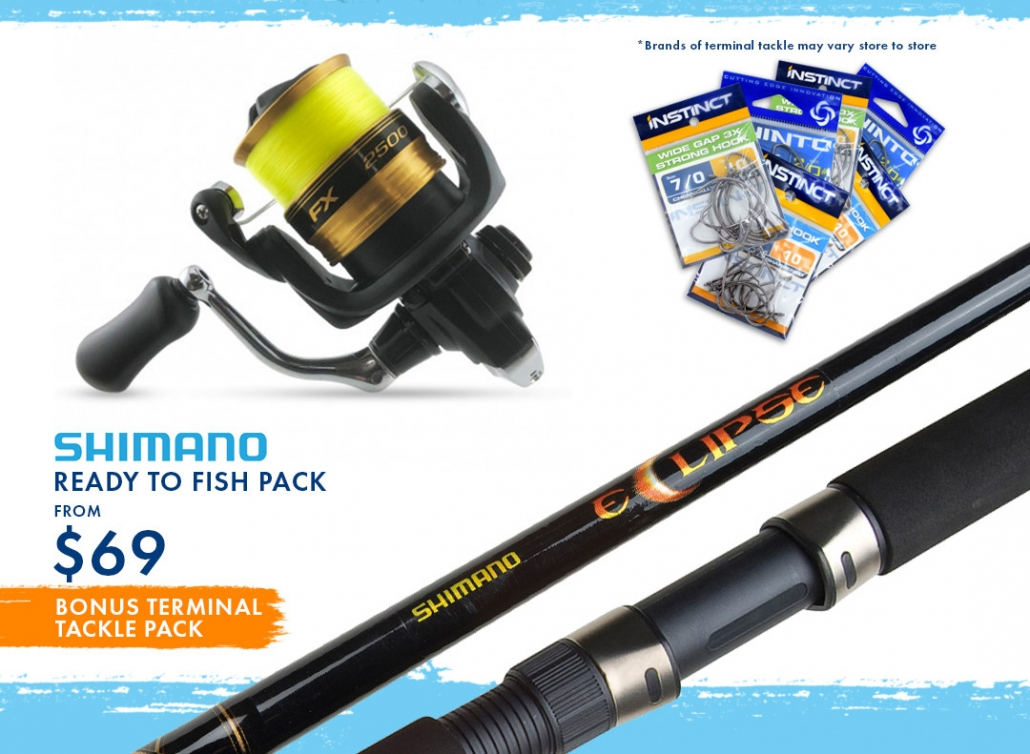 Shimano Ready to Fish Pack from $69