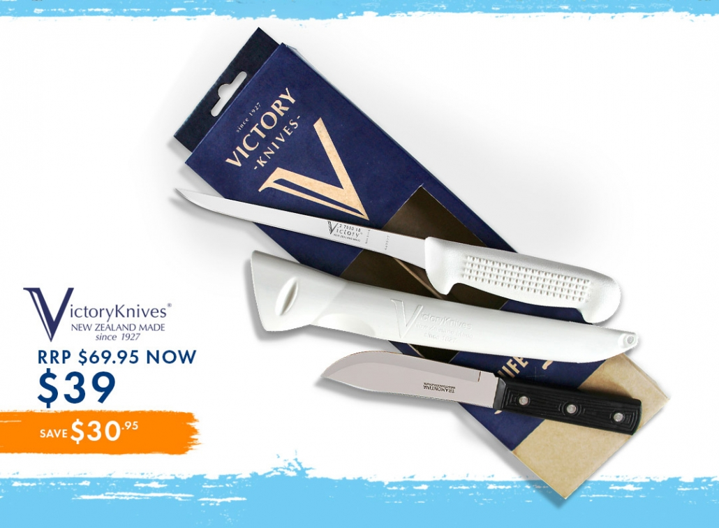 Victory Knife Set wasn $69.95 NOW $39