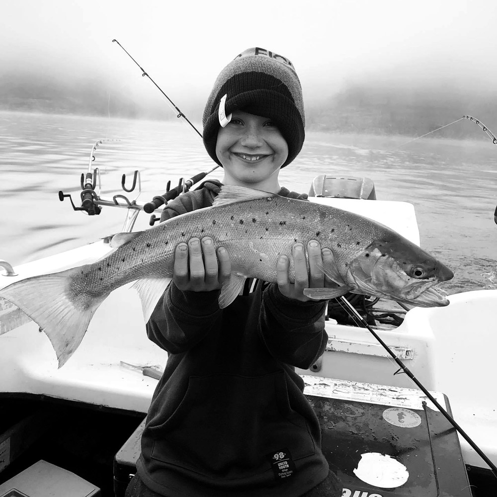 Tackle World's Local Hero Riley with Trout