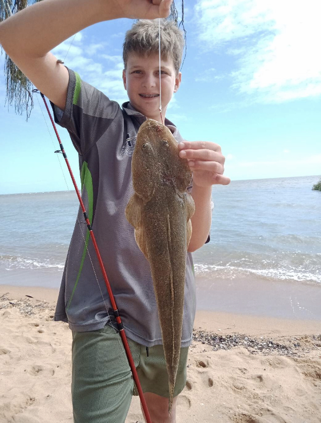 Tackle World's Local Hero Connor with flathead.